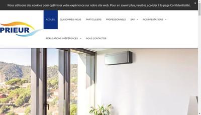 Site internet de Prieur