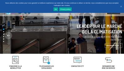 Site internet de Energie Transfert Thermique