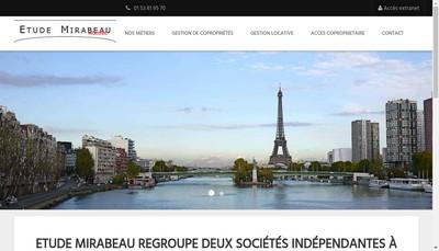 Site internet de Etudes et Coproprietes Mirabeau