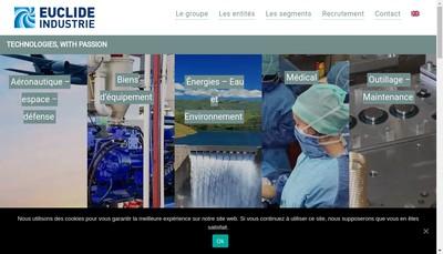 Site internet de Euclide Industrie - Lam