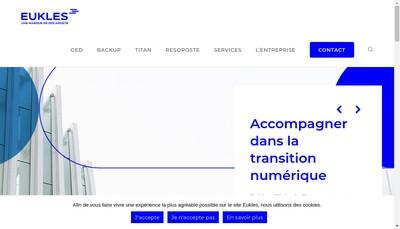 Site internet de Eukles Solutions