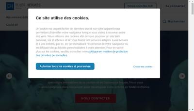 Site internet de Euler Hermes Services