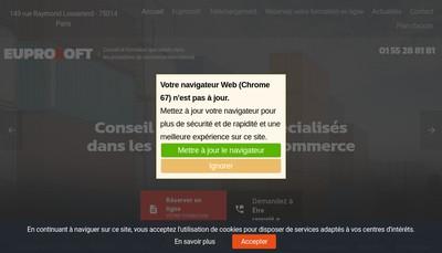 Site internet de Eupro Soft