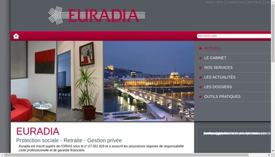 Site internet de Euradia