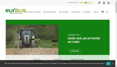 Site internet de Euralis Finances