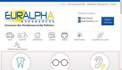 Site internet de Euralpha Assurances