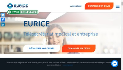 Site internet de Eurice
