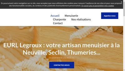 Site internet de EURL Legroux