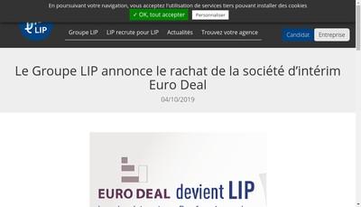 Site internet de Euro Deal International