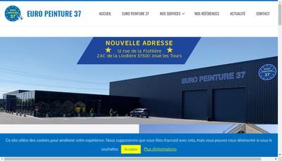 Site internet de Euro Peinture 37