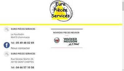 Site internet de Euro-Pieces-Services