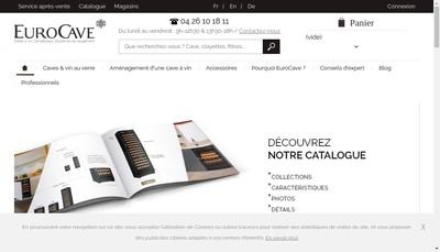 Site internet de Eurocave