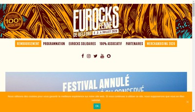 Site internet de Les Eurockeennes