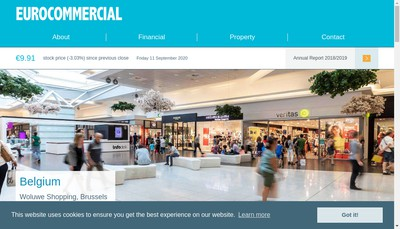 Site internet de Eurocommercial Properties France SAS