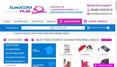 Site internet de Eurocom Pub