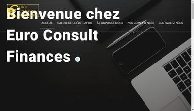 Site internet de Euro Consult Finances