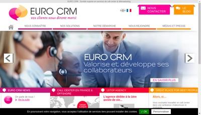 Site internet de Euro Crm Normandie