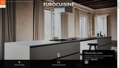 Site internet de Euro Cuisine
