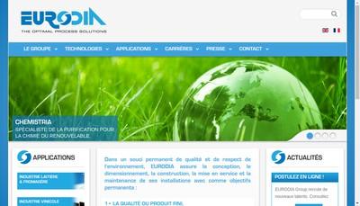 Site internet de Eurodia Oenodia
