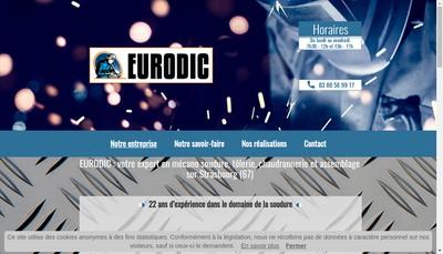 Site internet de SARL Eurodic