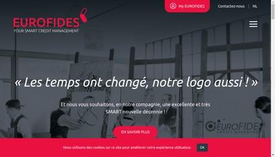 Site internet de Euro Fides Solutions en Recouvrement