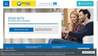Site internet de Eurofil Solutions
