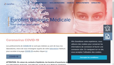 Site internet de Eurofins Interlab