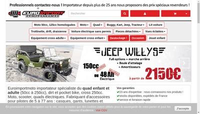 Site internet de Euro Import 4X4