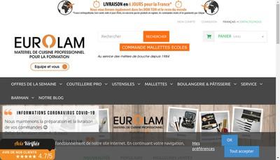Site internet de Eurolam
