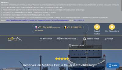 Site internet de Euromed Voyages