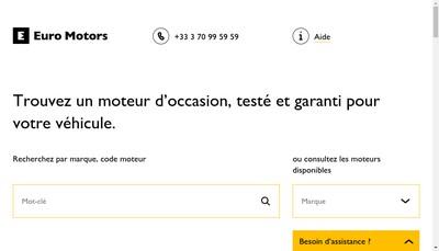 Site internet de Euro Motors