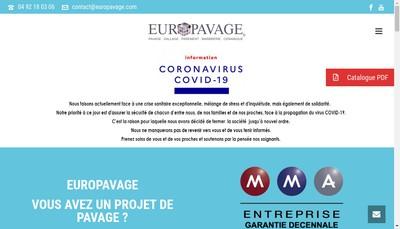 Site internet de Europavage