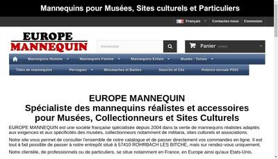 Site internet de Europe Mannequin