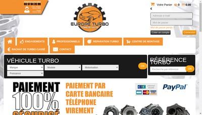 Site internet de Europe Turbo & Pieces Autos