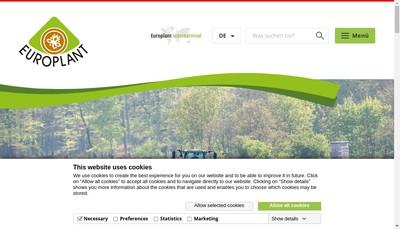 Site internet de Europlant France SARL