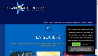 Site internet de Eurospectacles