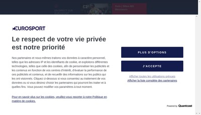 Site internet de Eurosport