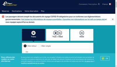 Site internet de Eurostar International Limited