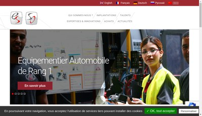 Site internet de Eurostyle Systems Chateauroux