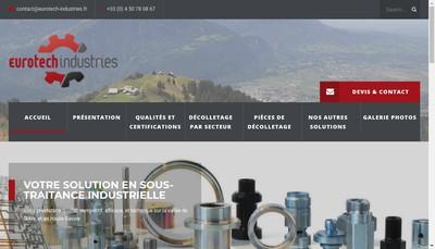 Site internet de Eurotech Industries