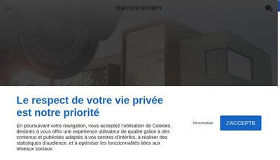 Site internet de Eurotech Security