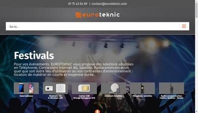 Site internet de Euroteknic