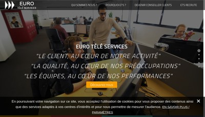 Site internet de Euro Tele Services