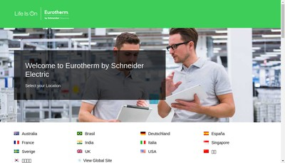 Site internet de Eurotherm Automation