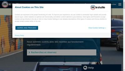 Site internet de Eurotunnel Services GIE