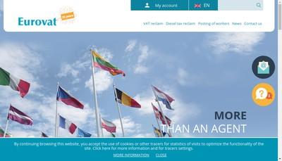 Site internet de SARL Eurovat