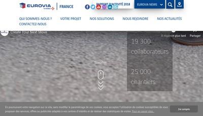 Site internet de Eurovia Champagne Ardenne