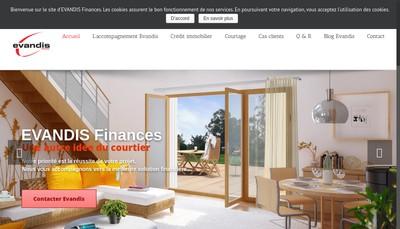 Site internet de Evandis Finances Marne la Vallee