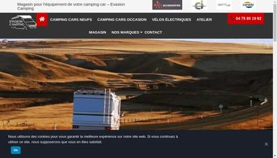 Site internet de Evasion Camping