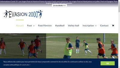 Site internet de Stage de football - Evasion 2000